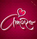 AMORE hand lettering (vector) Stock Photo