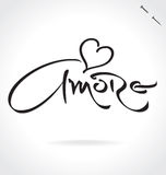 AMORE hand lettering (vector) Stock Image