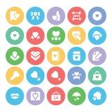 Amore & icone 5 di vettore colorate neolatino Fotografie Stock