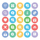 Amore & icone 4 di vettore colorate neolatino Immagine Stock