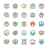 Amore & icone fresche romanzesche 1 di vettore illustrazione vettoriale