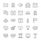 Amore & icone fresche romanzesche 1 di vettore illustrazione di stock