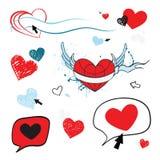 Amore Illustrazione del cuore Fotografia Stock