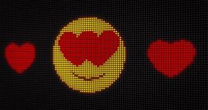 Amore LED dell'emoticon royalty illustrazione gratis