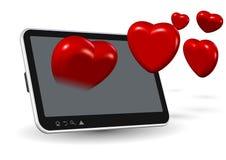Amore in linea illustrazione di stock