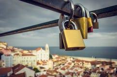 Amore a Lisbona Fotografia Stock