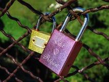 Amore Locked Fotografia Stock