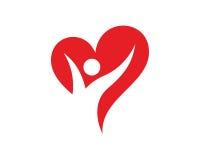 Amore Logo Template Design Vector, emblema, concetto di progetto, simbolo creativo, icona della gente illustrazione di stock