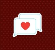 Amore Messege Icona di giorno del ` s del biglietto di S. Valentino Illustrazione di vettore Illustrazione Vettoriale