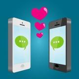 Amore mobile Fotografie Stock Libere da Diritti
