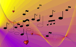 Amore a musica Immagine Stock