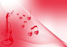 Amore a musica Immagini Stock Libere da Diritti