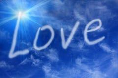 Amore nel cielo fotografia stock libera da diritti