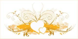 Amore nel disegno floreale Fotografia Stock