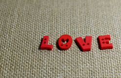 Amore nel fondo marrone Immagini Stock Libere da Diritti