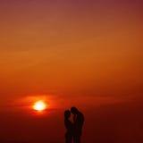 Amore nel tramonto Immagini Stock Libere da Diritti