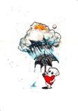Amore nella pioggia Fotografie Stock Libere da Diritti
