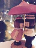 Amore nella pioggia Fotografie Stock