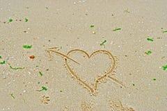 Amore nella spiaggia Fotografia Stock Libera da Diritti