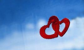 Amore nelle nuvole fotografie stock