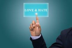 Amore & odio Fotografia Stock