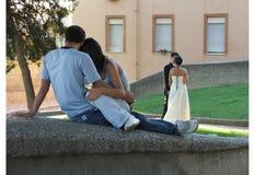 Amore: passato e futuro Fotografie Stock Libere da Diritti