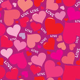 Amore pattern1 Immagini Stock Libere da Diritti