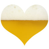 Amore per birra Immagine Stock