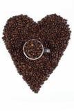 Amore per i chicchi di caffè Immagine Stock