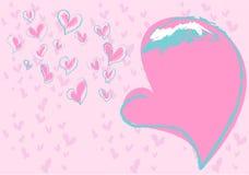 Amore per il biglietto di S. Valentino Immagini Stock