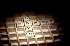 Amore per il concetto dei soldi Fotografie Stock
