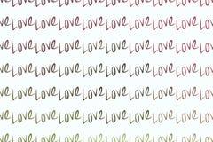 Amore per il giorno di S. Valentino, celebrazioni o estratto di anniversario, struttura disegnata a mano, contesto o fondo illustrazione di stock