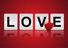 Amore per la celebrazione di nozze del biglietto di S. Valentino Fotografia Stock
