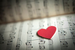 Amore per musica Fotografia Stock