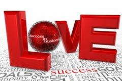Amore per successo Immagini Stock Libere da Diritti