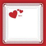 Amore in pizzo illustrazione vettoriale