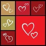 Amore, priorità bassa del biglietto di S. Valentino di vettore con cuore illustrazione vettoriale