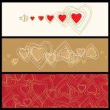 Amore, priorità bassa del biglietto di S. Valentino di vettore con cuore illustrazione di stock