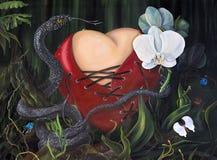 Amore rivelante nella giungla Fotografia Stock