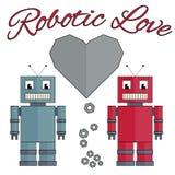 Amore robot Fotografia Stock