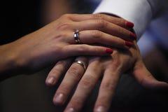 Amore romantico 21 di simboli di nozze delle coppie di matrimonio Fotografie Stock Libere da Diritti