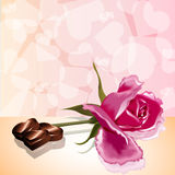 Amore rosa della caramella della carta di giorno di biglietti di S. Valentino Fotografie Stock Libere da Diritti