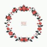 Amore rosa della ghirlanda Fotografia Stock