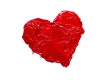 Amore rosso del cuore Immagine Stock