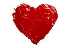 Amore rosso del cuore Fotografia Stock