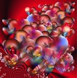 Amore rosso e biglietto di S. Valentino Fotografie Stock
