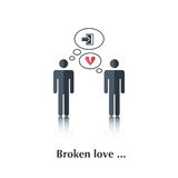 Amore rotto illustrazione di stock