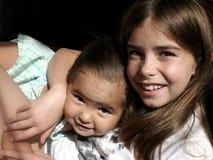 Amore Sisterly Fotografia Stock Libera da Diritti