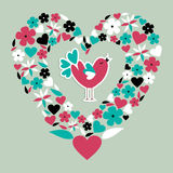 Amore sociale sveglio dell'uccello Immagine Stock