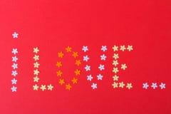 Amore St Giorno del ` s del biglietto di S Bei cuori Fotografia Stock Libera da Diritti